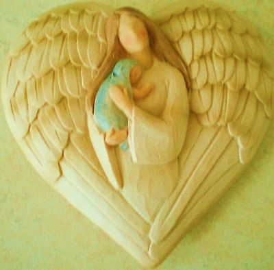 Latex Craft Mould To Make Angel & Baby Plaque Reusable Art & Crafts Hobby