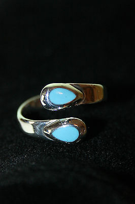 Astonishing Turquoise 925 Sterling Silver Mexican Ring