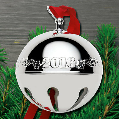 Wallace Annual Silverplate Sleigh Bell Ornament 2016