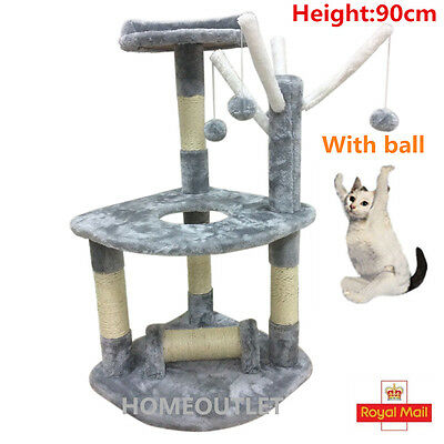 Cat Tree Condo Tower Scratching Post Scratcher Play House Toy 90cm
