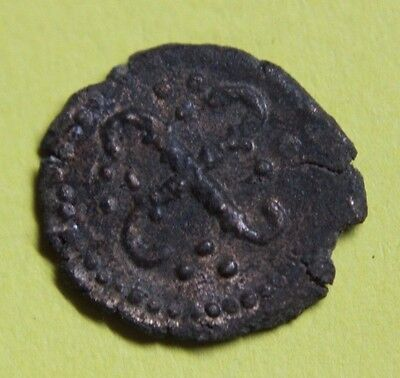 PARIS (PARISIVS) Bronze Coin with Swastika and anchored cross 8th century AD