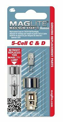 Maglite Replacement Lamp for 5-Cell C or D Flashlight, 1 pk LMXA501 MagLite