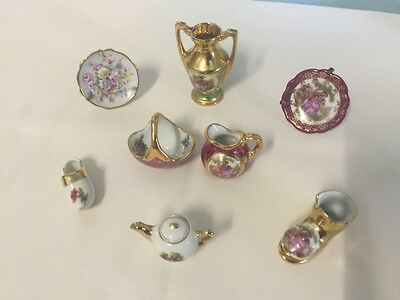 8 Lovely Limoges France Miniatures - Monarch & Others