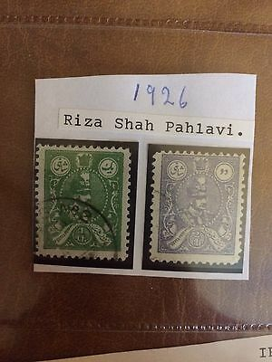 Riza Shah Pahlavi 1926Stamps - Mounted Good Condition