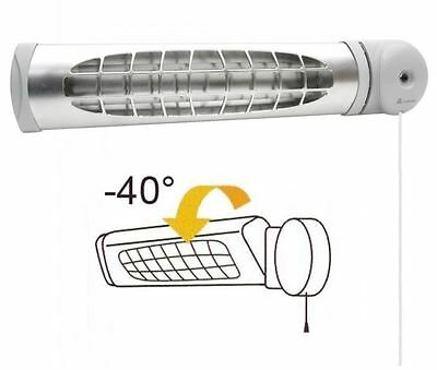 1.5Kw Bathroom Heater Infrared Electric For Washrooms Wall Mounted Heating