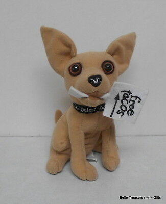 Taco Bell Chihuahua Plush Toy Free Taco Sign