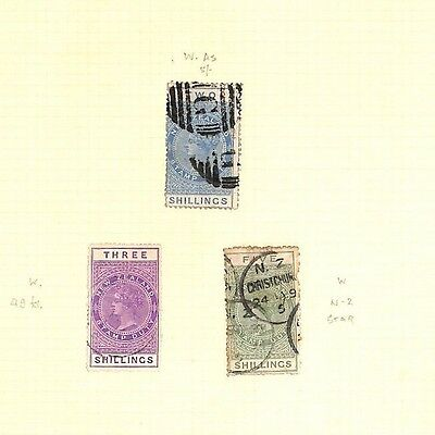 SA640 1882 NEW ZEALAND Stamp Duty Original album page from old-time collection