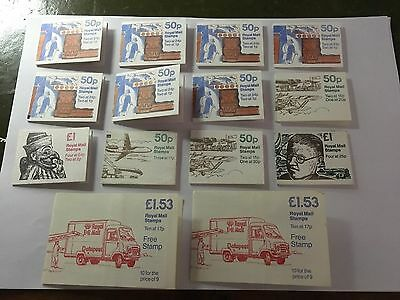 Gb Collection Of 15 Royal Mail Booklets Mint Unused Condition