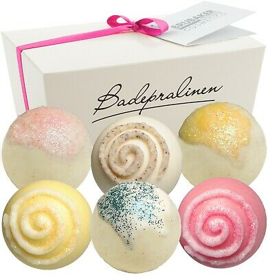 BRUBAKER Set of 6 Bath Bombs Balls Pralines Melt 'Stardust' Vegan Gift Set