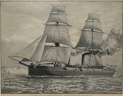 A Trio of c19th Maritime Engravings, I R Wells, HMS Imperieuse & Temeraire et al