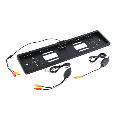 !Wireless Car Backup Licence Plate Frame Rear View Parking Reverse Camera F4