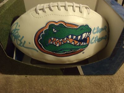 Jim McElwain  Gators  Full Size Autographed Football in Box