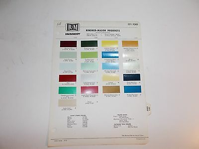 1971 Ford Rinshed-Mason Paint Chip Samples