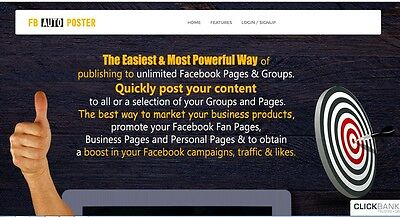 Social Marketing Auto Poster Website for sale Make money online