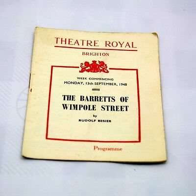 Theatre Royal Brighton Programme 1948. THE BARRETTS OF WIMPOLE STREET