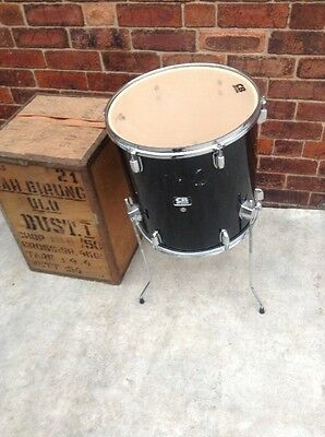 """Free P&P. CB 16"""" Floor Tom w Legs. in Black. Add to your Drum Kit. Issues!"""