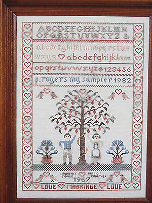 """Grille point de croix """"Marriage Sampler"""" Counted Collection"""