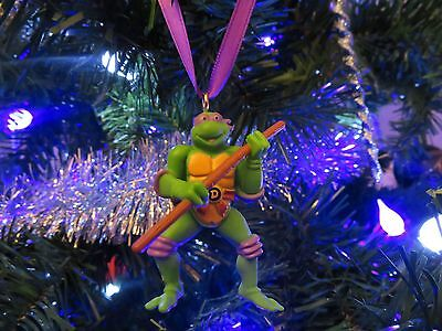 Teenage Mutant Ninja Turtles Custom Made Donatello Pvc Christmas Ornament