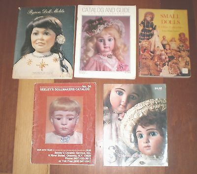 Five vintage DOLLMAKERS Catalogues, Doll Moulds catalogue & Small Dolls sc books