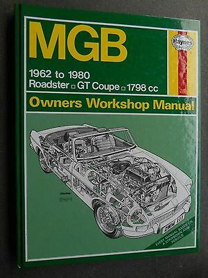 HAYNES MANUAL - MGB Roadster & GT Coupe 1962 to 1980 - 1798 cc - HBk 111