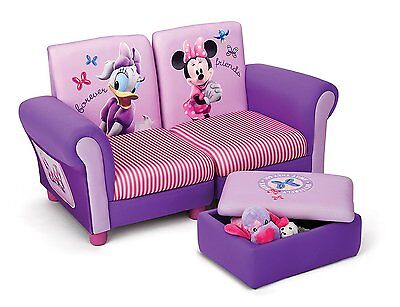Minnie Maus Kindersofa gepolstert Holz Sessel Sofa Couch Stuhl Hocker Mouse