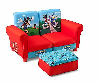 Mickey Maus Kindersofa gepolstert Holz Sessel Sofa Couch Stuhl Hocker Micky Mous