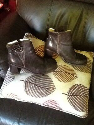 ladies brown leather ankle boots size 5 NEXT, great condition