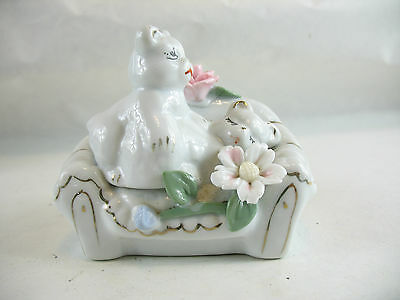 Two cats on a couch Ceramic