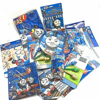 Thomas Tank Engine Party Pack Tableware Cups Plates Napkins Party Bag Birthday
