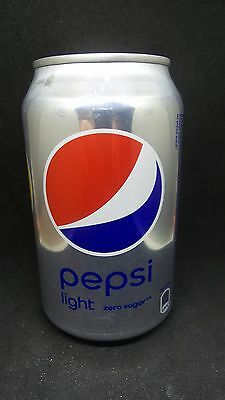 Empty  cans of Pepsi Light - brend of Russia