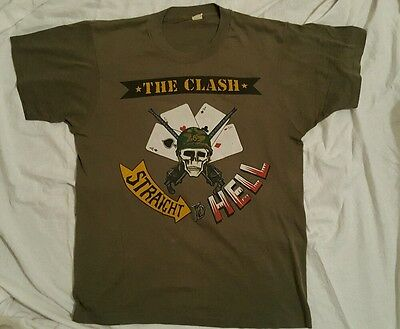 VINTAGE CLASH tour straight to hell tshirt ORIGINAL 1984 near perfect condition