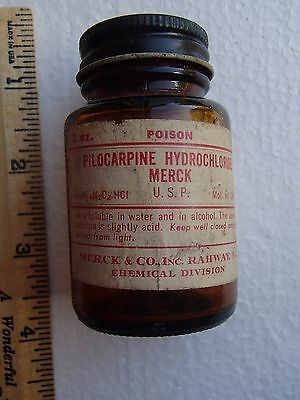 Vintage Merck POISON Medicine Bottle