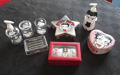 Betty Boop Collectables Lot Watch set / Bathroom 4 piece set and more - L@@K