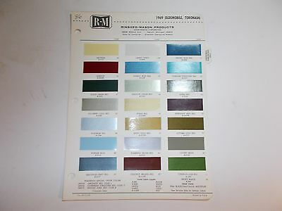 1969 Oldsmobile Rinshed-Mason Paint Chip Samples