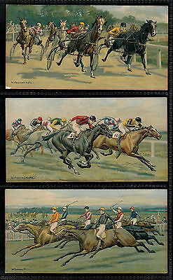 "Carreras 1927 Intriguing ( Horse ) Full 12 Card Set "" Races--Historic & Modern """
