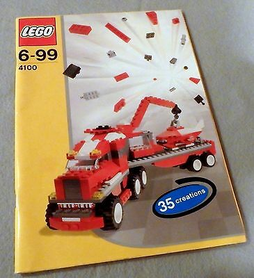 LEGO Creations Instruction Manual Booklet Only #4100 (35 Creations)