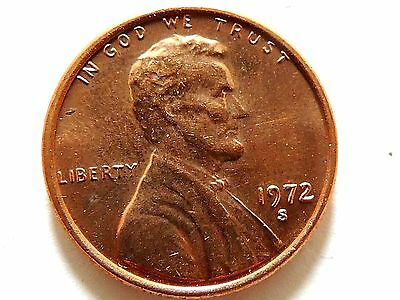 1972-S Lincoln One (1) Cent Coin.
