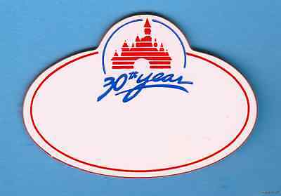 BLANK DISNEY CAST NAME TAG ENGRAVED WITH YOUR NAME DISNEYLAND 30th YEAR