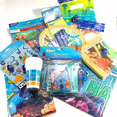 Finding Dory Complete Party Pack Tableware Cups Plates Napkin Party Bag Birthday