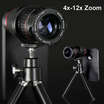 4-12X Zoom Telescope Phone Lens+Clip for Samsung Galaxy S7 S6 Edge Plus Note 7