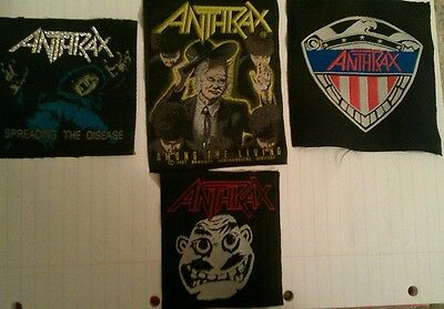 ANTHRAX  vintage patch lot