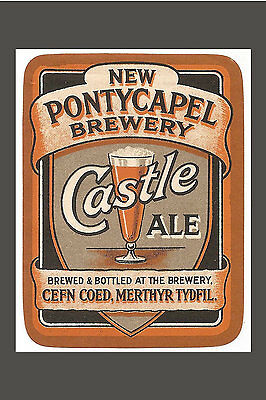 PHOT TAKEN FROM AN OLD  1920's ADVERT FOR PONTYCAPEL BREWERY CEFN COED