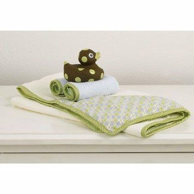 Cocalo Baby's Bathtime Gift Set Hooded Towel Wash Cloths Soft Ducky Baby Shower