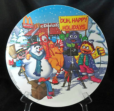 "2001 McDonalds Duh Happy Holidays 9 1/2"" Collector's Plate Free USA Shipping"