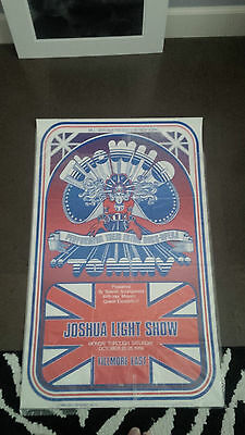 The Who Tommy Fillmore East 1969 AOR Concert Poster