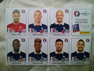 extra stickers panini france euro 2016 set mise a jour foot football  update