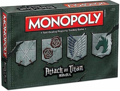 MONOPOLY: Attack on Titan Board Game NEW!