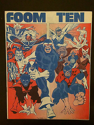 FOOM #10 1975 Marvel Comic Book. First New X-Men Nightcrawler, Storm, Colossus