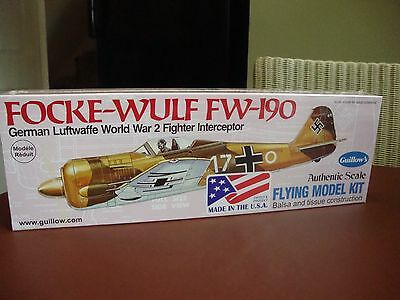 502 Fouke-Wulf Fw-190 Guillows Flying Model Kit Brand New Mint Boxed And Sealed