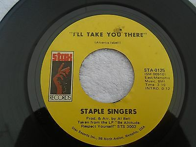 STAPLE SINGERS ''i'll take you there STAX usa orig vg++